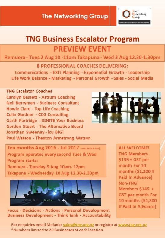 PREVIEW TNG Business Escalator Program