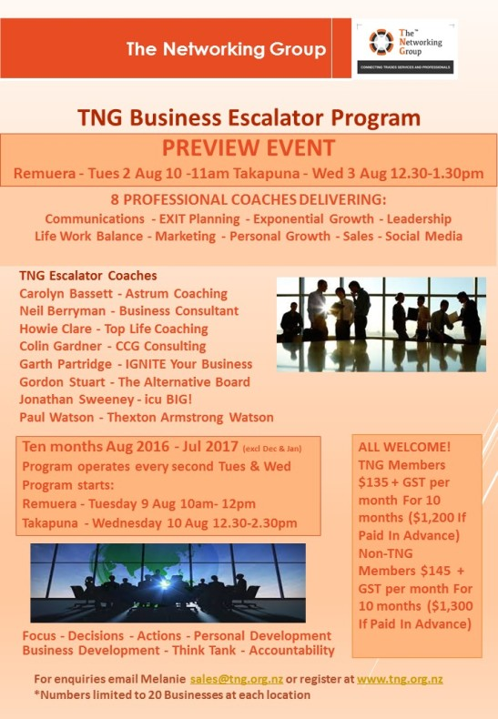 PREVIEW TNG Business Escalator Program